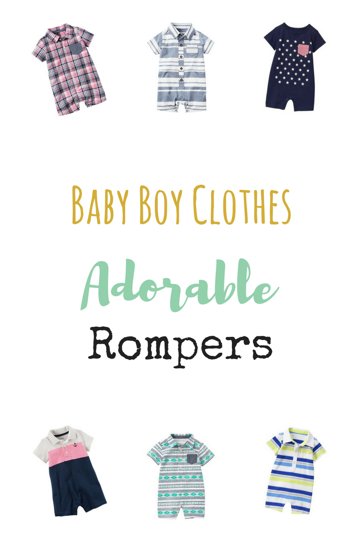 Baby Boy Clothes- Rompers | themommiegoddess.com
